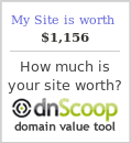 My Site is worth $1,156