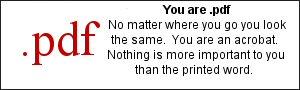 You are .pdf